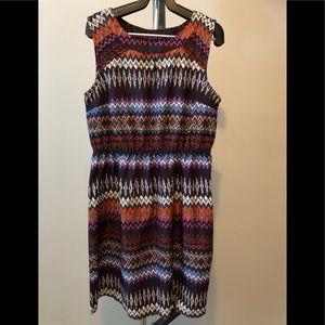Jolie multi coloured pattern dress